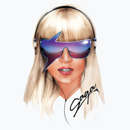 Illustration Lady gaga